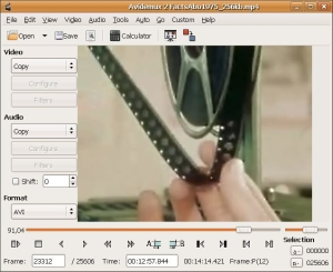 Видеоредактор: Avidemux v. 2.6.15